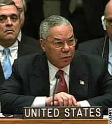 Colin Powell Presents WMD Case to UN